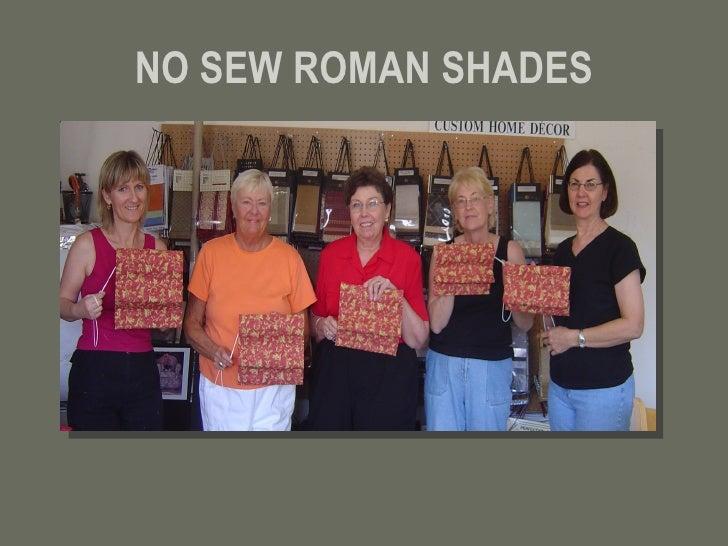 NO SEW ROMAN SHADES