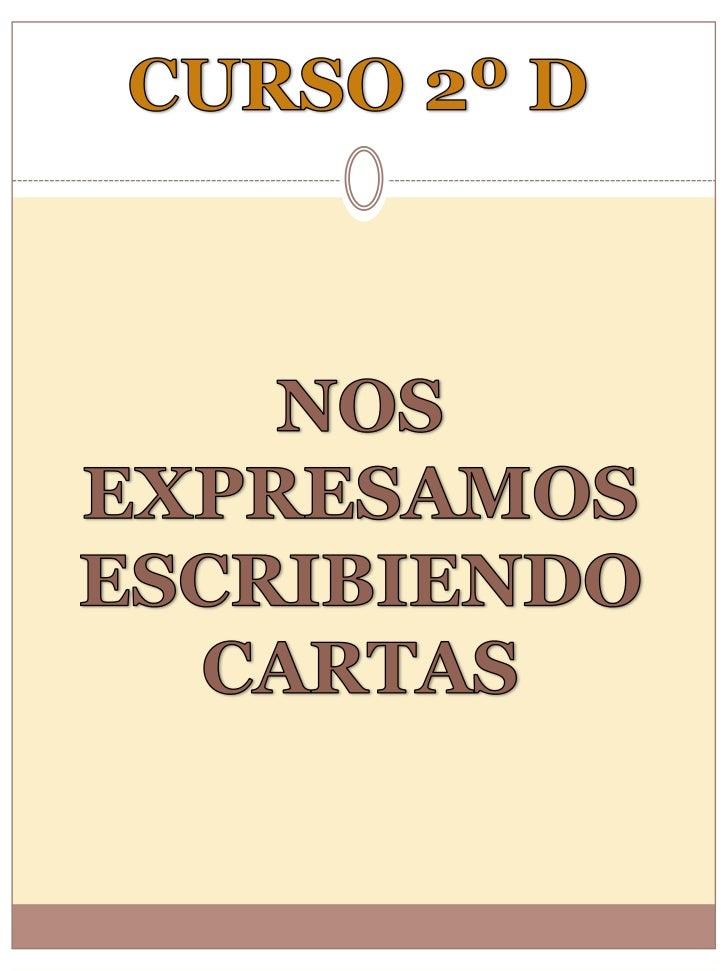 CARTAS ENTRECOMPAÑEROS/AS