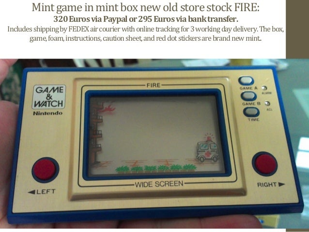 new old store stock fire widescreen nintendo game watch