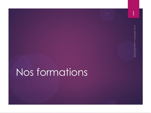Nos formations  1