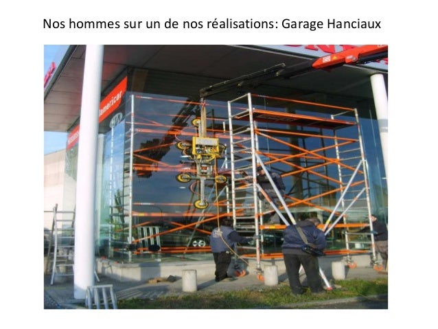 Nos hommes sur un de nos réalisations: Garage Hanciaux