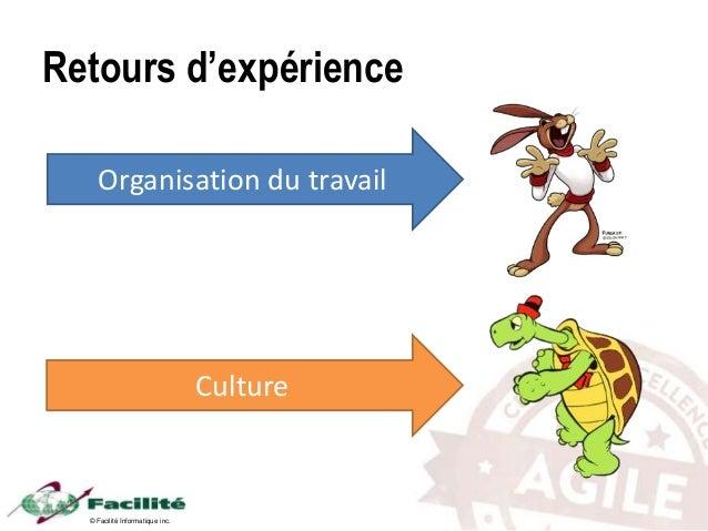 © Facilité Informatique inc. Retours d'expérience Organisation du travail Culture