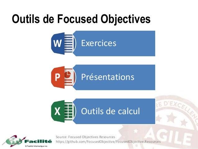 © Facilité Informatique inc. Outils de Focused Objectives Exercices Présentations Outils de calcul Source: Focused Objecti...