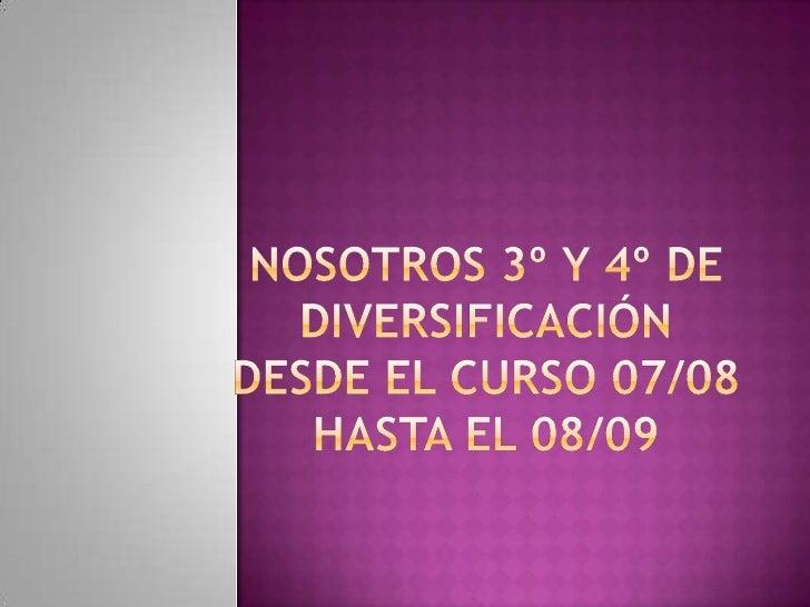 Nosotros 3º Y 4º De DiversificacióN2