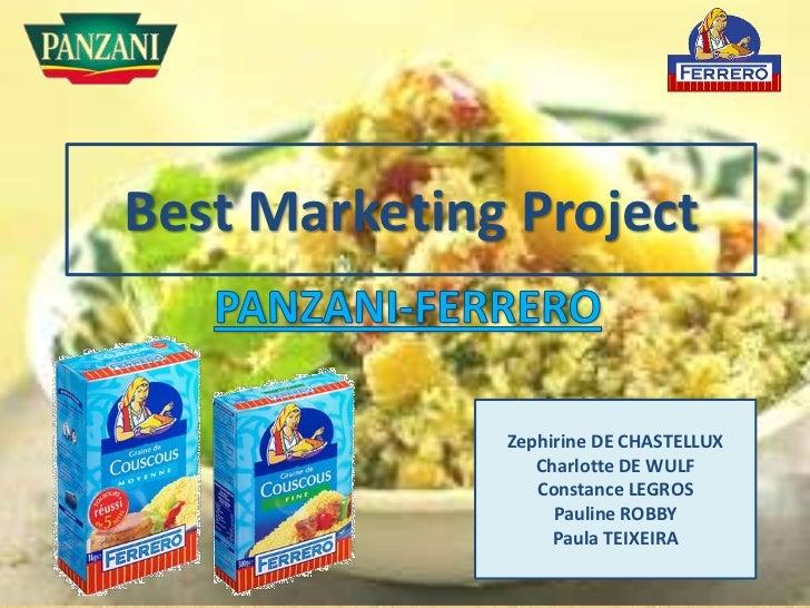 Best Marketing Project              Zephirine DE CHASTELLUX                 Charlotte DE WULF                 Constance LE...