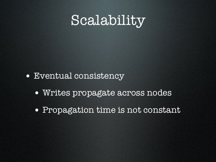 SimpleDB FeaturesEventually Consistent                                Consistent Read       Read  Stale Reads Possible    ...