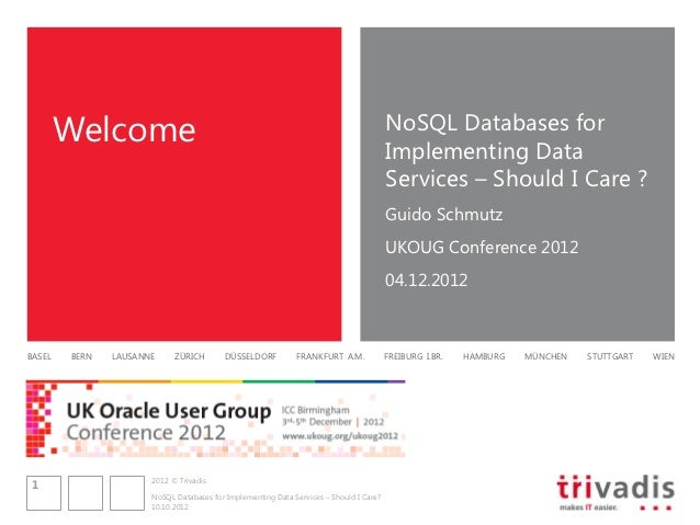 Welcome                                                                         NoSQL Databases for                       ...