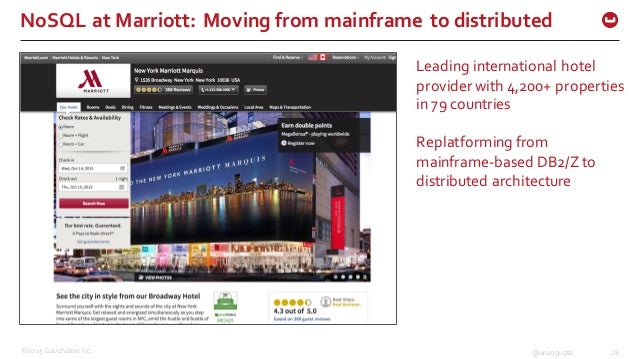 ©2015 Couchbase Inc. 18@arungupta NoSQL at Marriott: Moving from mainframe to distributed Leading international ...