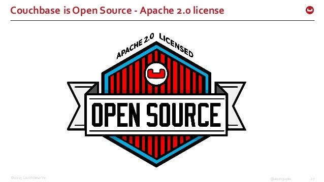 ©2015 Couchbase Inc. 27@arungupta Couchbase is Open Source -‐ Apache 2.0 license