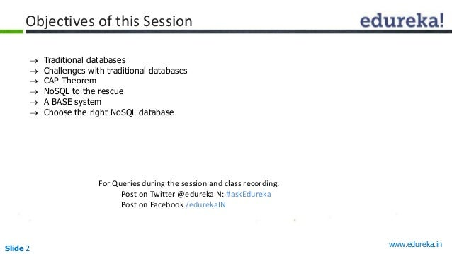 Slide 2 Objectives of this Session • Un For Queries during the session and class recording: Post on Twitter @edurekaIN: #a...