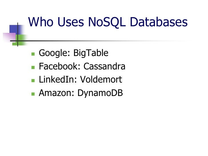 nosql essay Read this essay on nosql database come browse our large digital warehouse of free sample essays get the knowledge you need in order to pass your classes and more.