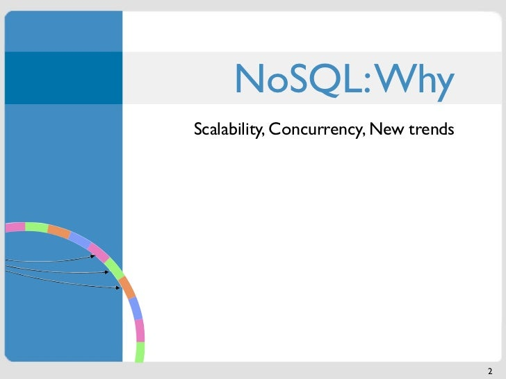 NoSQL: WhyScalability, Concurrency, New trends                                       2