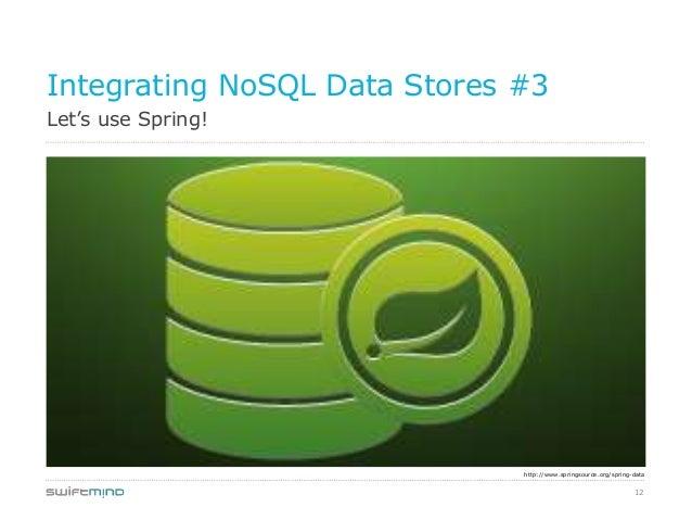 12Let's use Spring!Integrating NoSQL Data Stores #3http://www.springsource.org/spring-data
