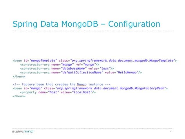 20Spring Data MongoDB – Configuration