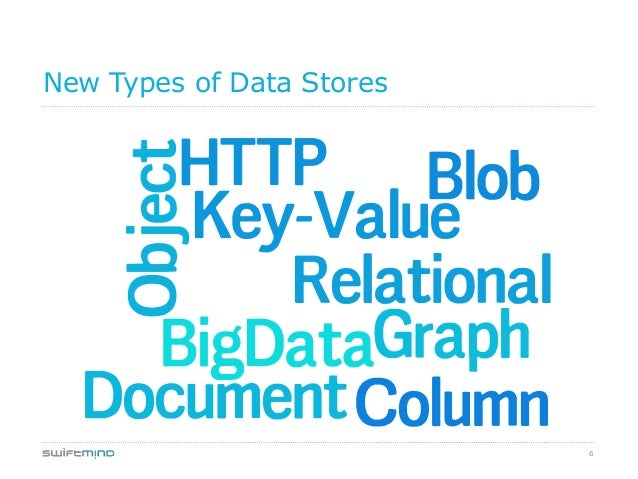 6New Types of Data Stores