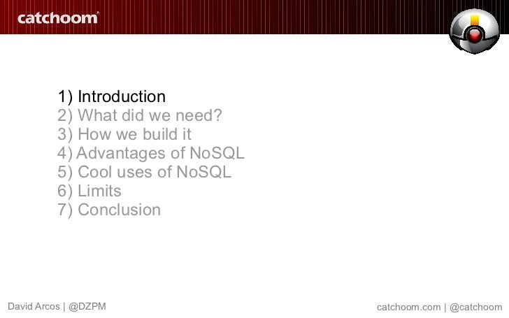 NoSQL matters in Catchoom Recognition Service Slide 2