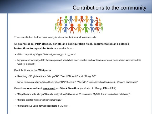 Contributions to the communityThe contribution to the community is documentation and source code.All source code (PHP clas...