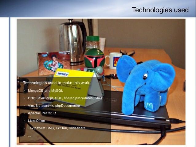 Technologies usedTechnologies used to make this work:●   MongoDB and MySQL●   PHP, JavaScript, SQL, Stored procedures, She...