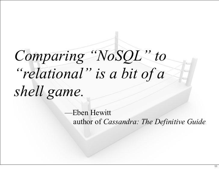 NoSQL Smackdown!