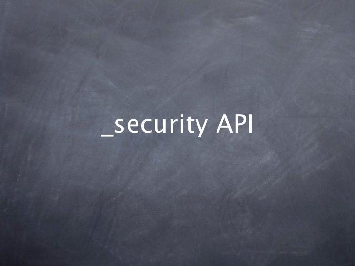 _security API