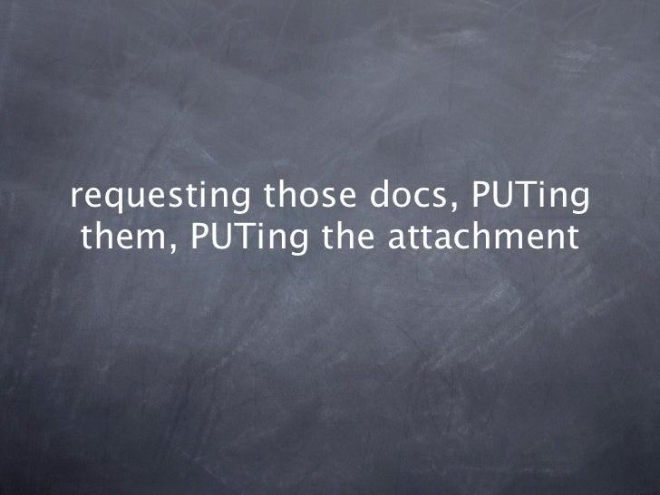 requesting those docs, PUTing them, PUTing the attachment