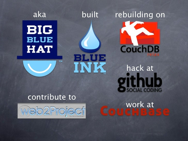 aka            built   rebuilding on                          hack atcontribute to                          work at
