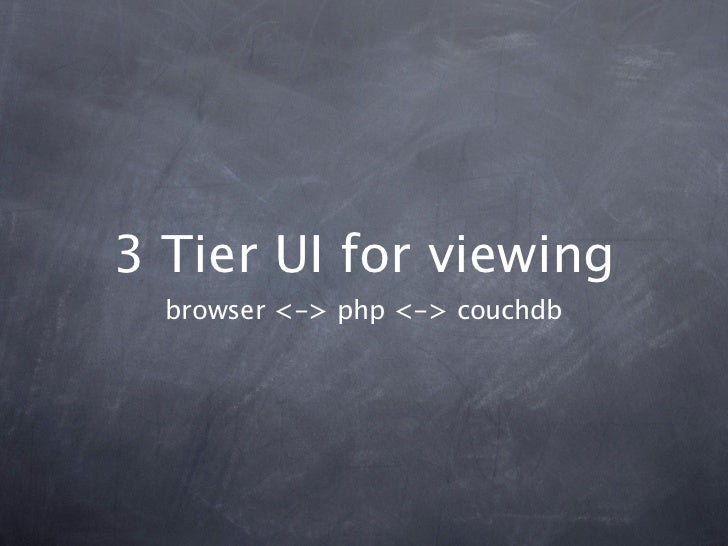 3 Tier UI for viewing  browser <-> php <-> couchdb