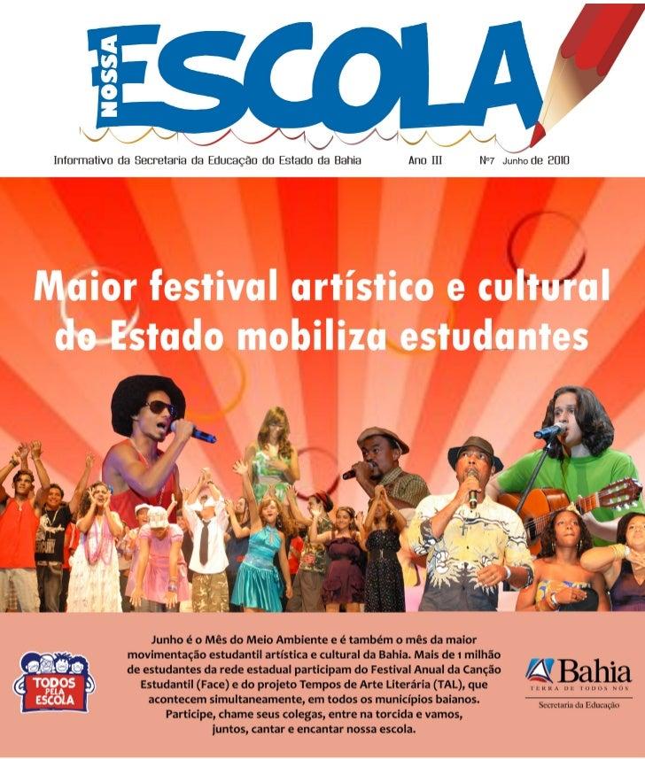 Nossa Escola - BolEtim iNformativo da sEcrEtaria da Educação do Estado da Bahia
