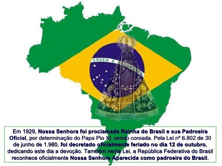 Nossa Senhora Aparecida Padroeira Do Brasil: Nossa Senhora Aparecida