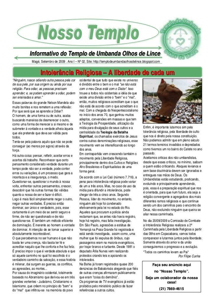 Informativo do Templo de Umbanda Olhos de Lince              Informativo do Templo de Umbanda Olhos de Lince              ...