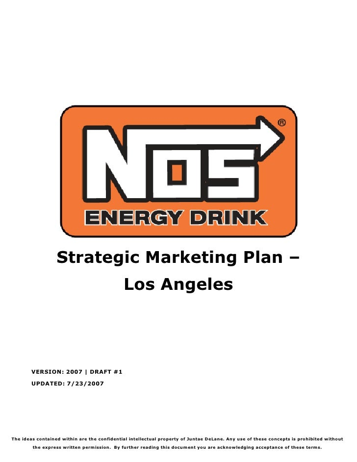 Strategic Marketing Plan –                                              Los Angeles             VERSION: 2007 | DRAFT #1  ...