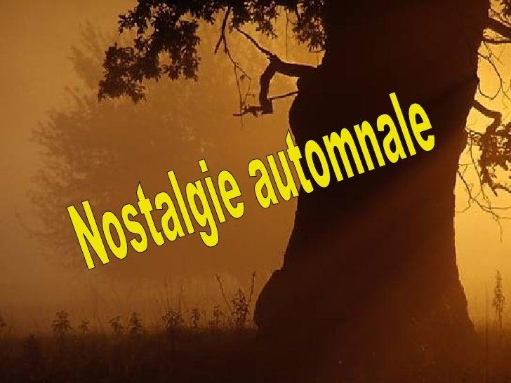 Nostalgie automnale