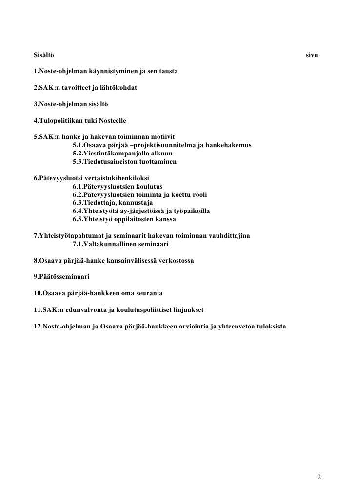 Sisältö                                                                            sivu1.Noste-ohjelman käynnistyminen ja ...
