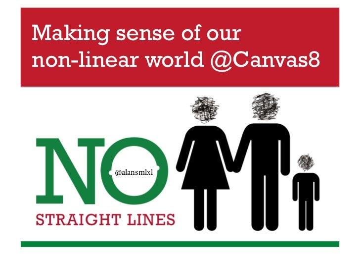 Making sense of ournon-linear world @Canvas8       @alansmlxl