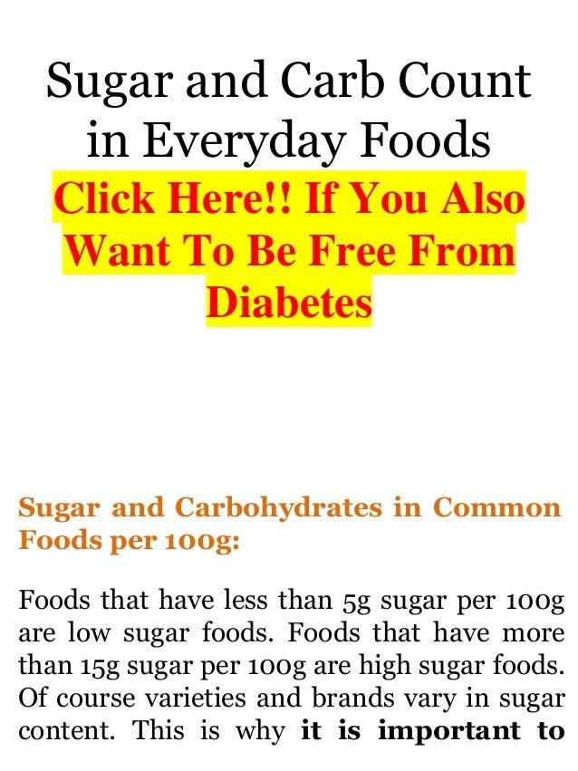 no sugar diet plan pdf