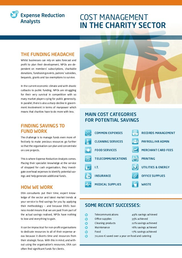 Cost Management in the Non Profit Organizations