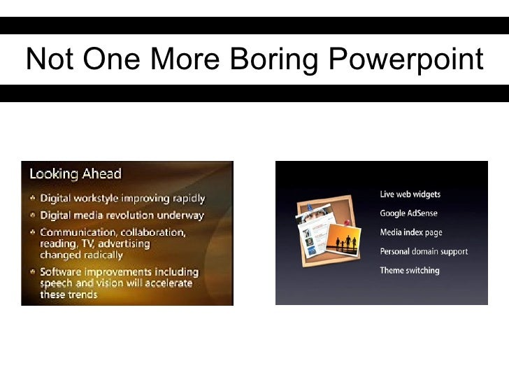 Not One More Boring Powerpoint