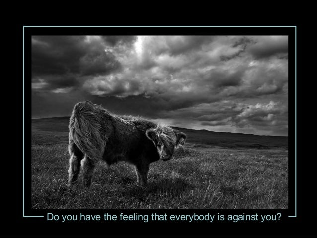 Do you have the feeling that everybody is against you?