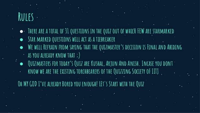 Not so general quiz  Slide 3