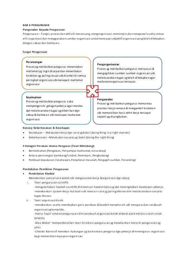 BAB 6 PENGURUSAN Pengenalan Kepada Pengurusan Pengurusan – Fungsi,proses dan aktiviti merancang,mengorganisasi,memimpin,da...