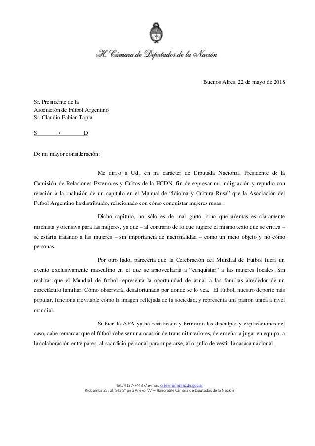 """Tel.: 4127-7443 // e-mail: csliermann@hcdn.gob.ar Riobamba 25, of. 843 8° piso Anexo """"A"""" – Honorable Cámara de Diputados d..."""