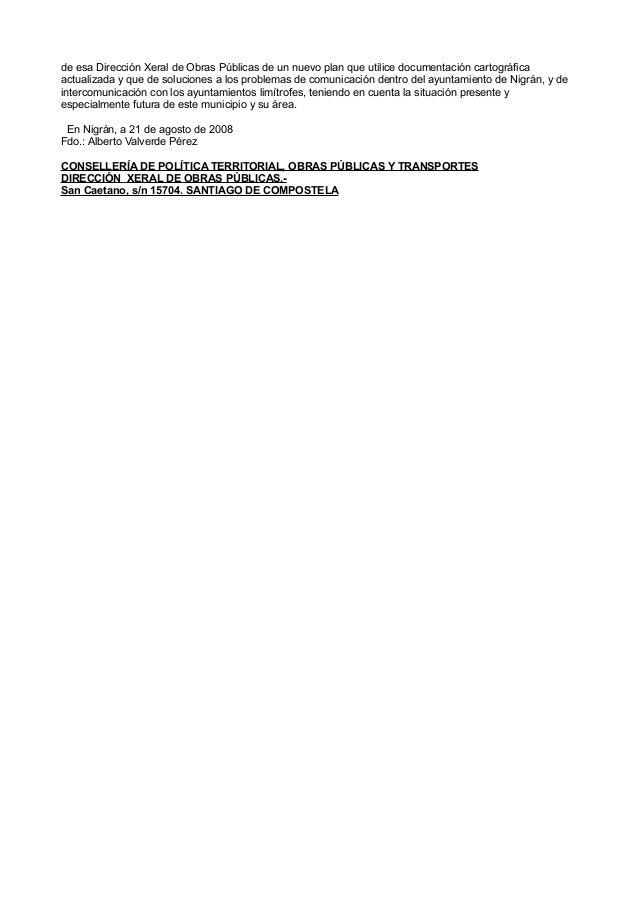 Nota de prensa y alegacións do PP de Nigrán ao proxecto de trazado do vial Vigo Integra por Nigrán Slide 3