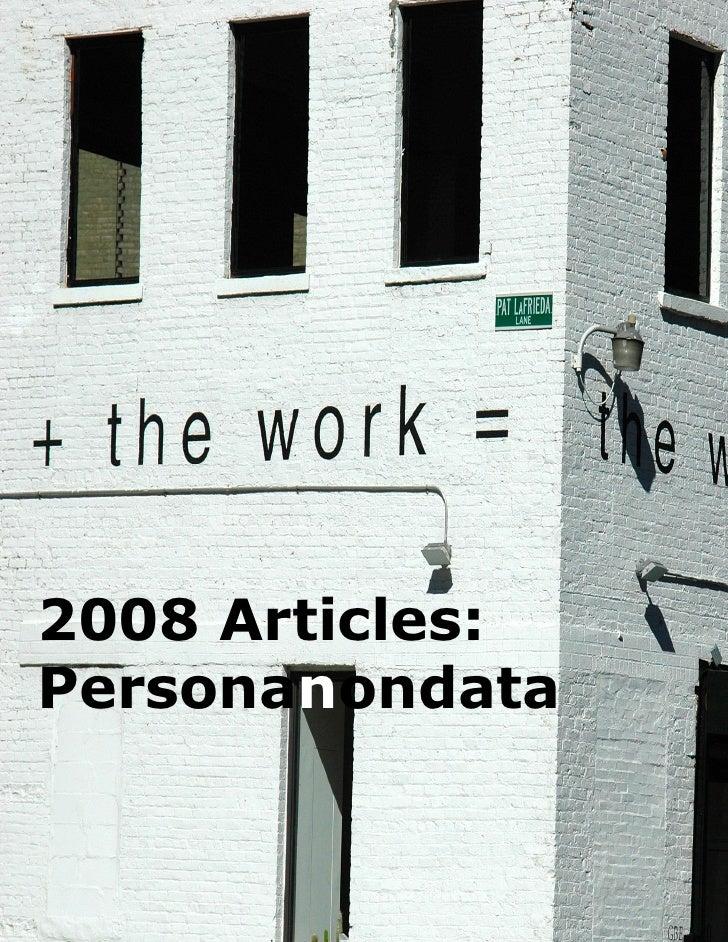2008 Articles: Personanondata                    1