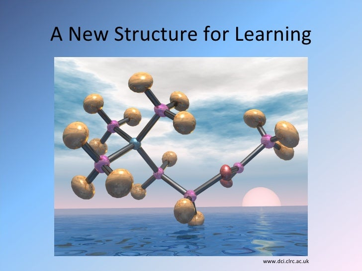 A New Structure for Learning <ul><li>www.dci.clrc.ac.uk </li></ul>