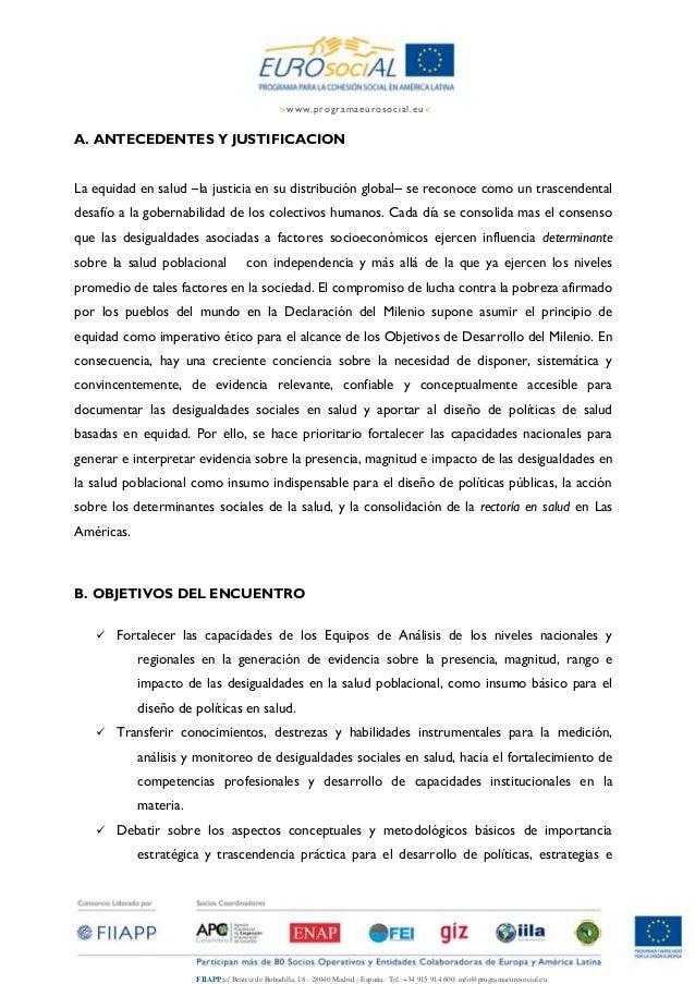 Nota conceputal y agenda. taller de medición de equidad con ops en uruguay Slide 2