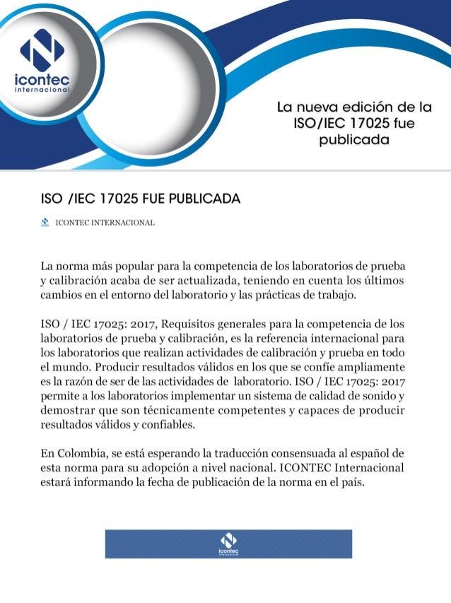 Nueva edición de la ISO /IEC 17025 fue publicada
