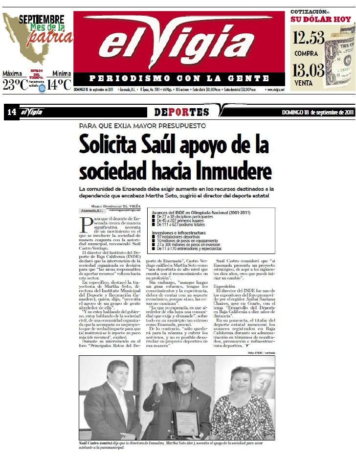 """Foro """"Principales Retos del Deporte en Ensenada"""""""