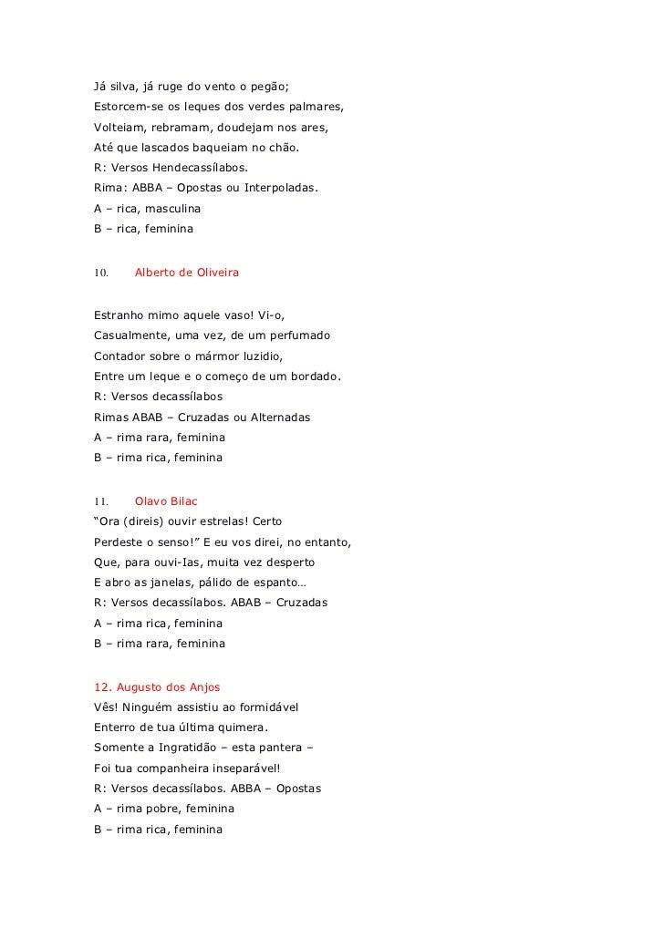 Fabuloso Nota iii escansão poemas SZ46