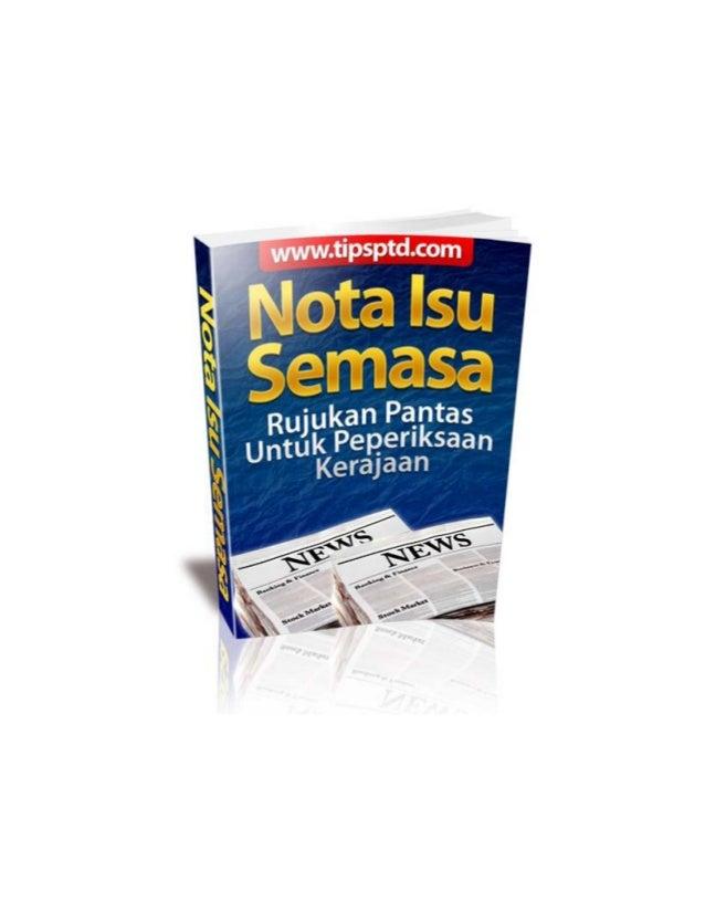 Nota Isu Semasa 2010/11Team Tipsptd http://tipsptd.com/blog 2Legal NoticeLegal NoticeLegal NoticeLegal Notice• Ebook ini a...