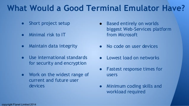 Not all terminal emulators are equal